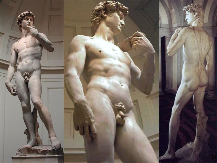 Давид — мраморная статуя работы Микеланджело