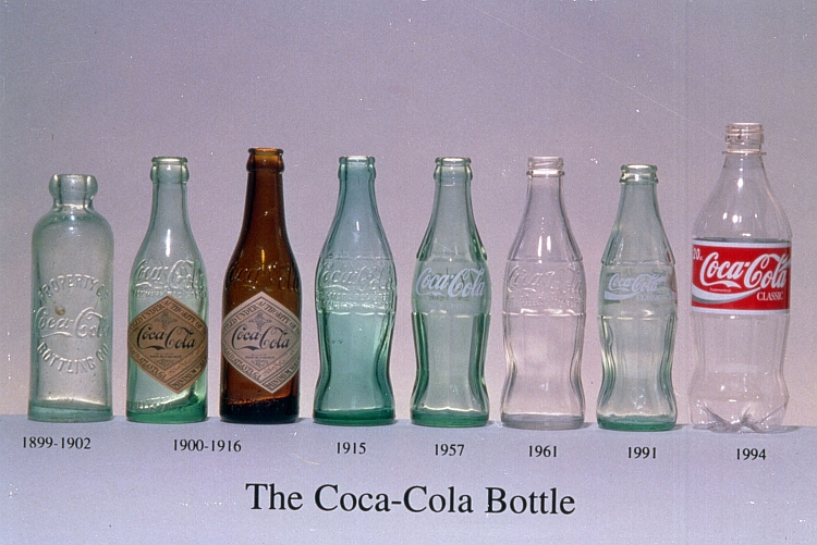 эволюция бутылок coca-cola