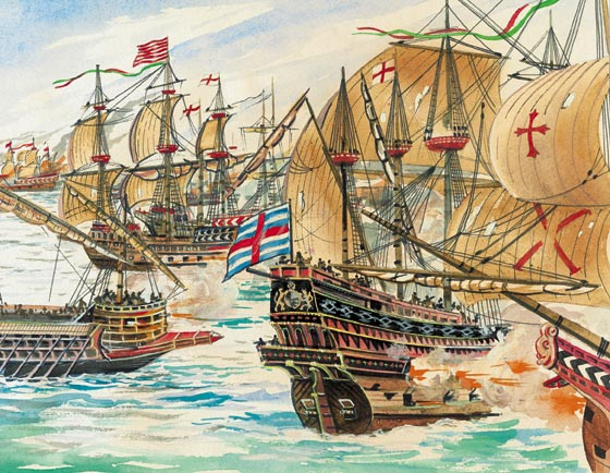 "spanish armada On may 28, 1588, the spanish armada set sail from lisbon, portugal, headed for england with 130 ships and 30,000 men meaning literally ""great and most fortunate navy"", the spanish armada's strategic goal was to overthrow queen elizabeth i and put an end to protestantism in england."