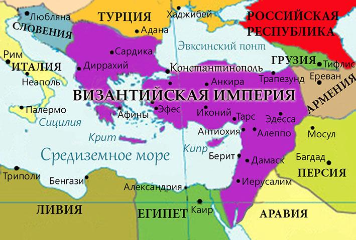 Карта Византии