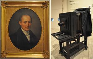 Клод Ньепс и его первый фотоаппарат.