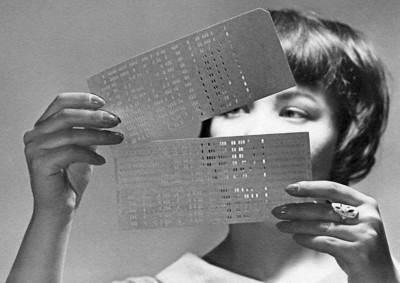 Перфокарты – картонки с пробитыми отверстиями