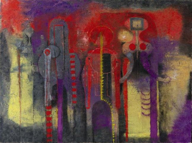 Как была найдена картина художника Тамайо «Три персонажа» ?