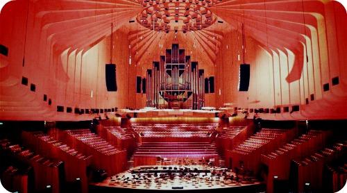 Сиднейская опера - внутри