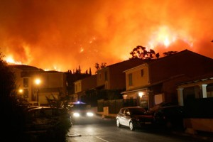 Пожары на территории Южной Франции