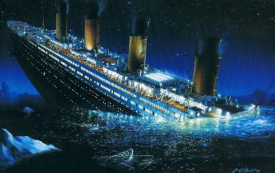 """Паника на корабле """"Титаник""""."""