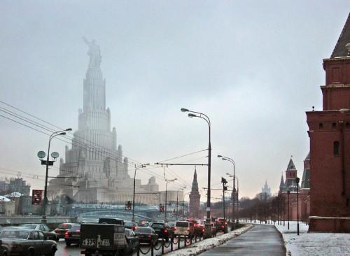 Как бы выглядел Дворец Советов на фоне сегодняшней Москвы?