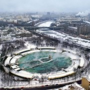 Фундамент Дворца Советов в Москве
