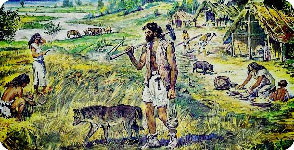 Неолитическая революция привела человека к оседлому образу жизни.