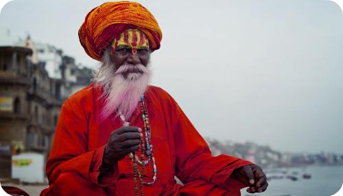 Местный житель города Варанаси.