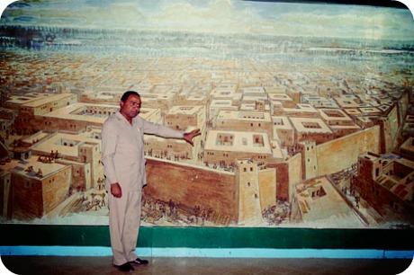 Художественная реконструкция города Мохенджо-Даро.