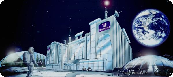 космический отель на Луне