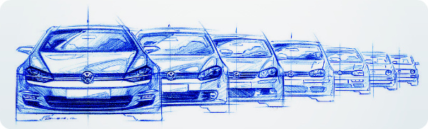 Эволюция VW Golf.