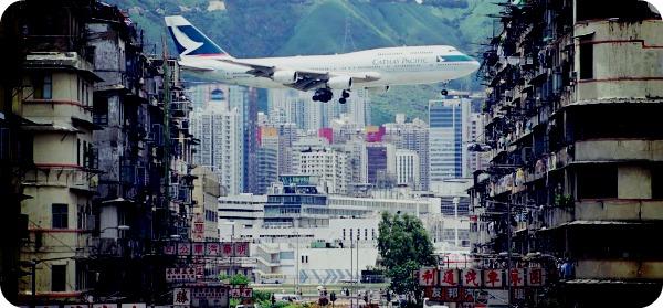 Аэропорт Кай-Так в Гонконге.
