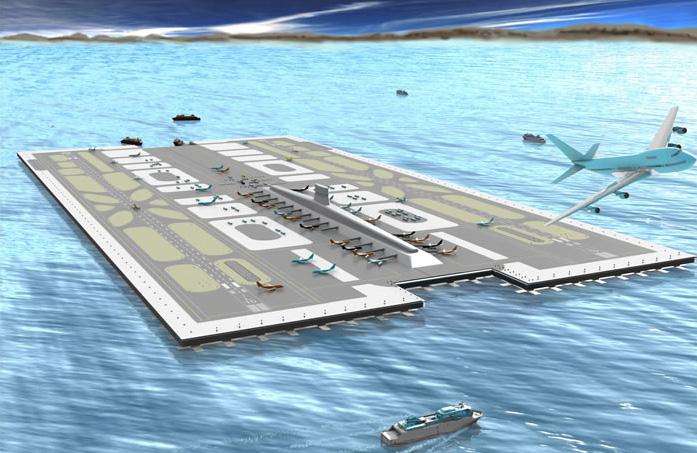 аэродром на гигантских плавающих платформах